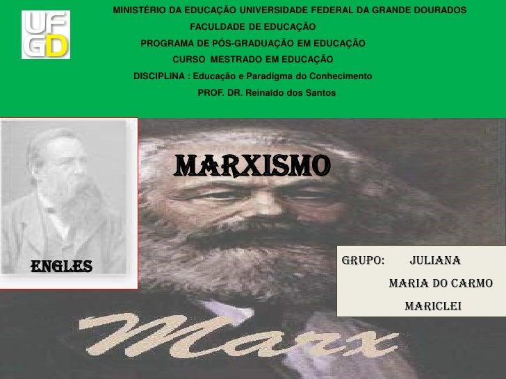 MINISTÉRIO DA EDUCAÇÃO UNIVERSIDADE FEDERAL DA GRANDE DOURADOS                       FACULDADE DE EDUCAÇÃO             PRO...