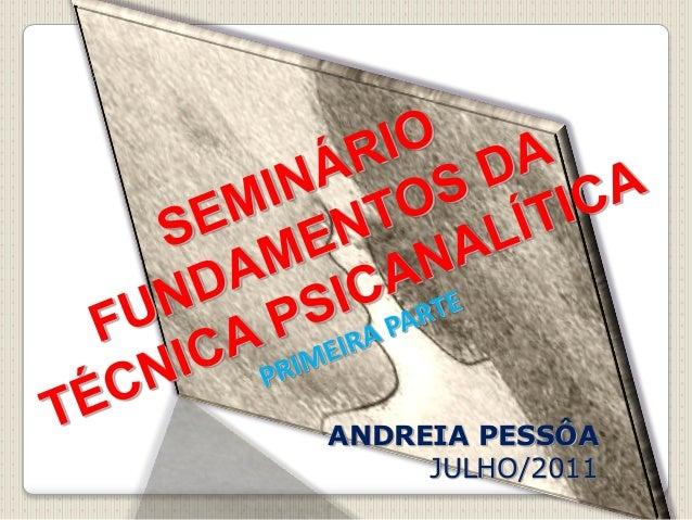 1 ANDREIA PESSÔA JULHO/2011
