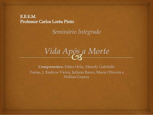 Seminário Integrado Vida Após a Morte Componentes: Fábio Ortiz, Hemily Gabrielle Farias, J. Endrew Vieira, Juliana Basso, ...