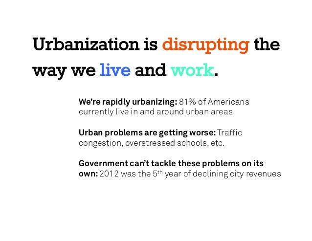 Urbanization problems case study