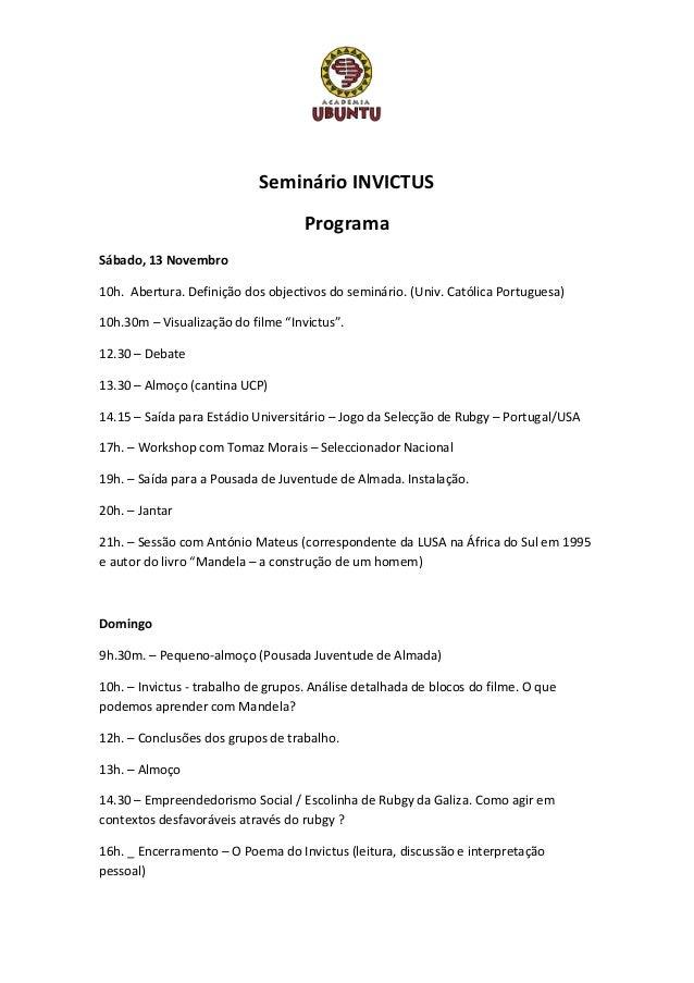 Seminário Invictus