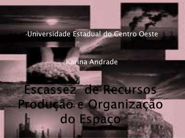 •Universidade Estadual do Centro Oeste Karina Andrade