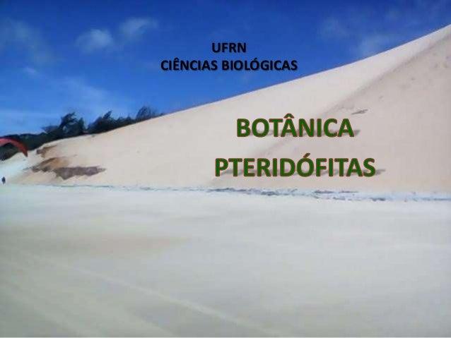 UFRN CIÊNCIAS BIOLÓGICAS
