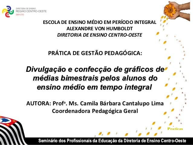 ESCOLA DE ENSINO MÉDIO EM PERÍODO INTEGRAL               ALEXANDRE VON HUMBOLDT           DIRETORIA DE ENSINO CENTRO-OESTE...