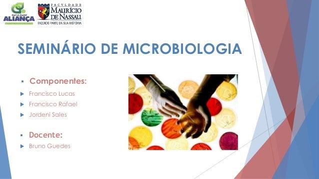 SEMINÁRIO DE MICROBIOLOGIA  Componentes:  Francisco Lucas  Francisco Rafael  Jordeni Sales  Bruno Guedes  Docente: