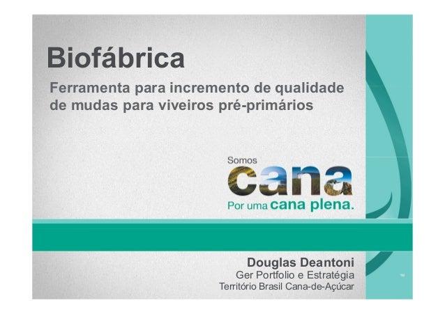 BiofábricaFerramenta para incremento de qualidadede mudas para viveiros pré-primáriosDouglas DeantoniGer Portfolio e Estra...