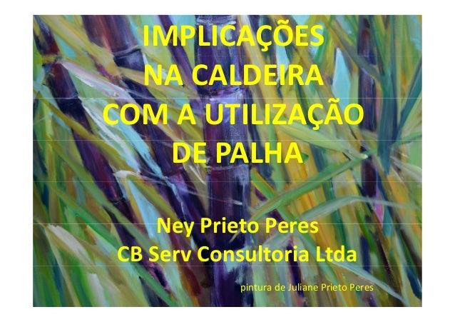 IMPLICAÇÕESNA CALDEIRACOM A UTILIZAÇÃODE PALHANey Prieto PeresCB Serv Consultoria Ltdapintura de Juliane Prieto Peres