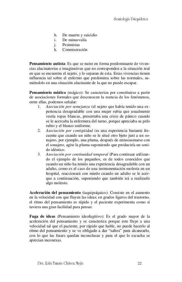 Semiología Psiquiátrica               h.    De muerte y suicidio               i.    De minusvalía               j.    Pes...
