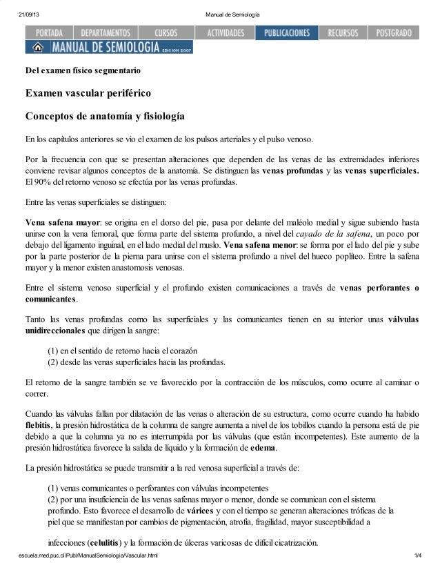 Semiología sist. vascular periférico puc