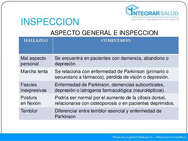 INSPECCION               ASPECTO GENERAL E INSPECCION HALLAZGO                             COMENTARIOMal aspecto     Se en...