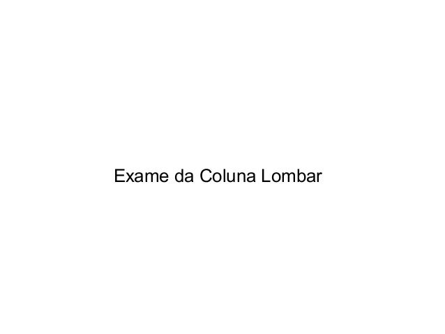 Exame da Coluna Lombar