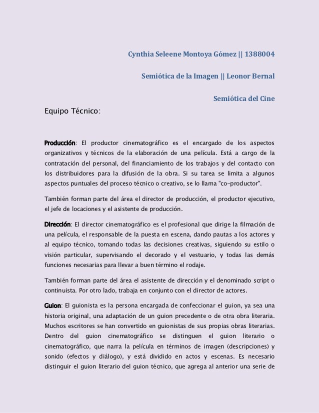 Cynthia Seleene Montoya Gómez    1388004                                   Semiótica de la Imagen    Leonor Bernal        ...