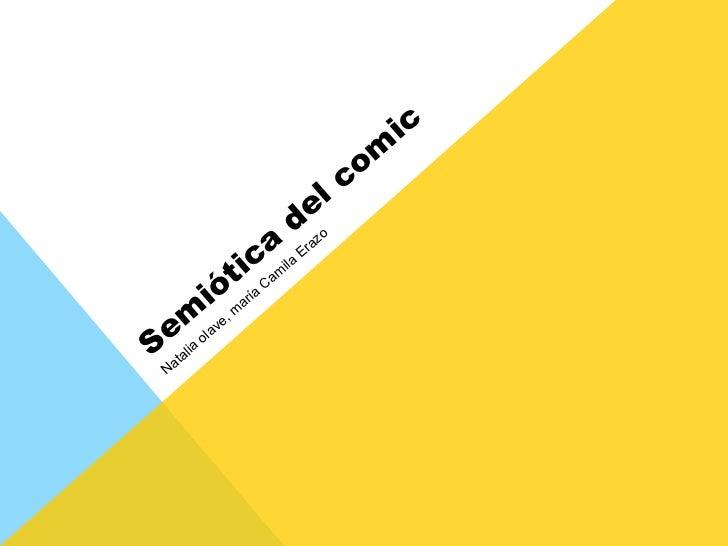 Semiótica del comic Natalia olave, maría Camila Erazo