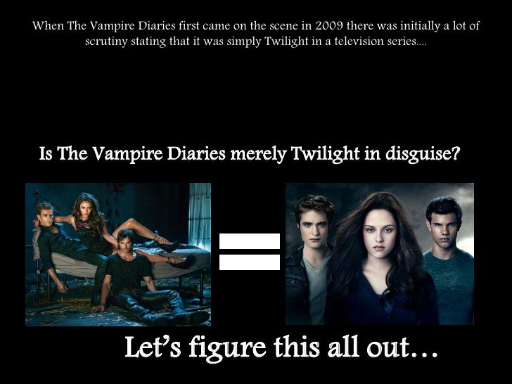 an analysis of vampire The second episode of season 1 the audience found out that stefan was a vampire, after he attcked his brother damon (ian somerhalder.