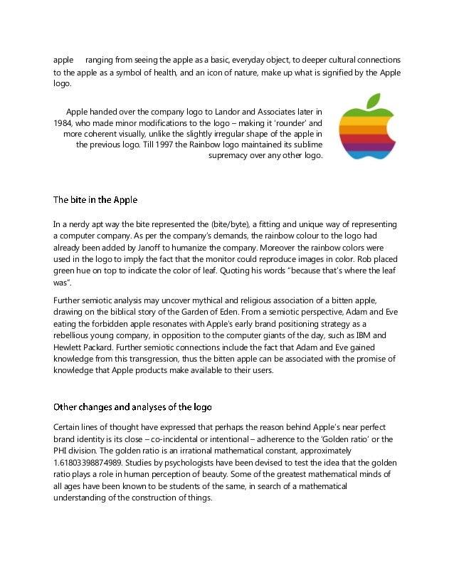 Semiotics Analysis Of Apple Inc Logo