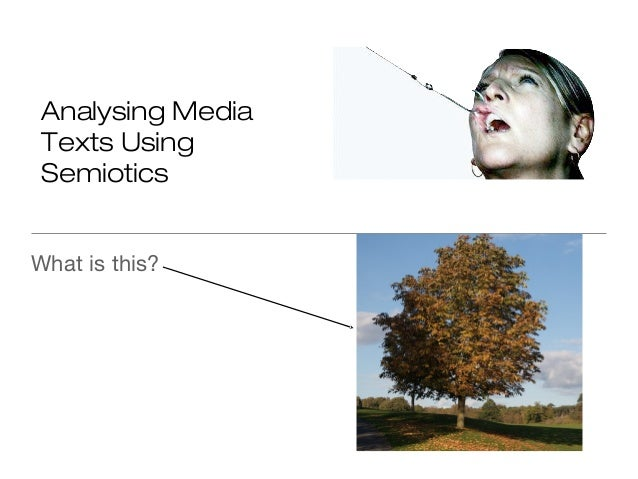 Analysing Media Texts Using Semiotics What is this?
