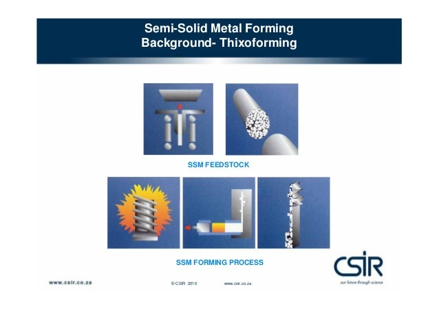 semi solid metal casting Thixoforming: semi‐solid metal processing  covering materials science,  rheology, casting and forming, control and surface technology as.