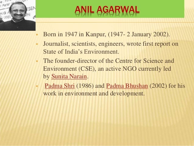 Contribution of Indian environmentalist