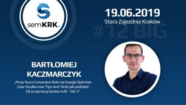 Bartłomiej Kaczmarczyk sssemninja.page.link/semkrk9