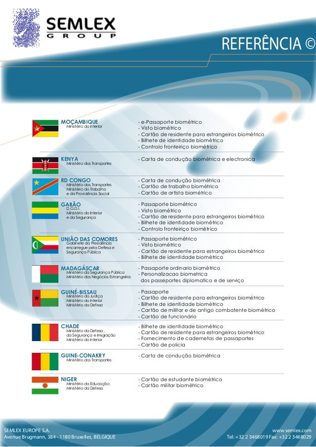 SEMLEX EUROPE S.A. Avenue Brugmann, 384 - 1180 Bruxelles, BELGIQUE www.semlex.com Tel: +32 2 3468019 Fax: +32 2 3468029 MO...