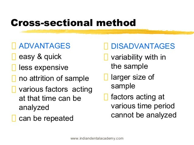 Cross sectional research method