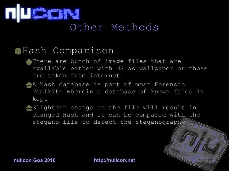 nullcon 2010 - Steganography & Stegananalysis: A Technical
