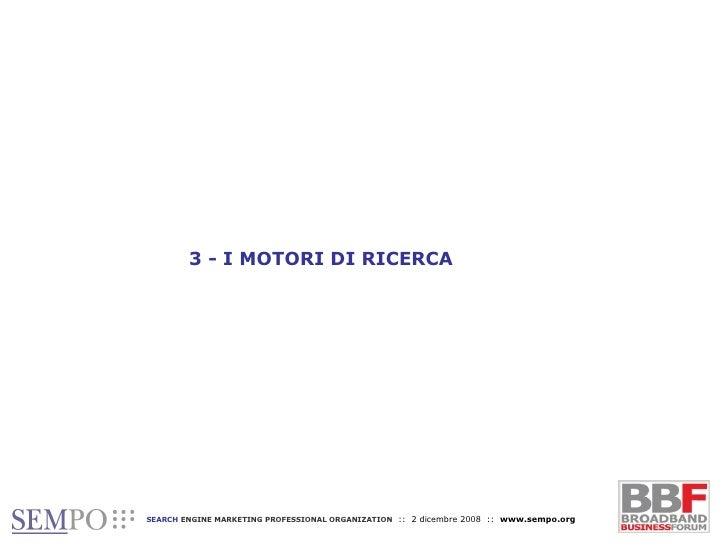 3 - I MOTORI DI RICERCA