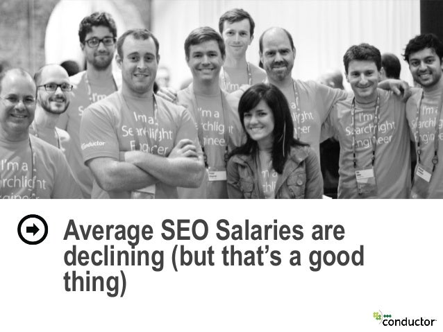 Average SEO Salaries are declining (but that's a good thing)