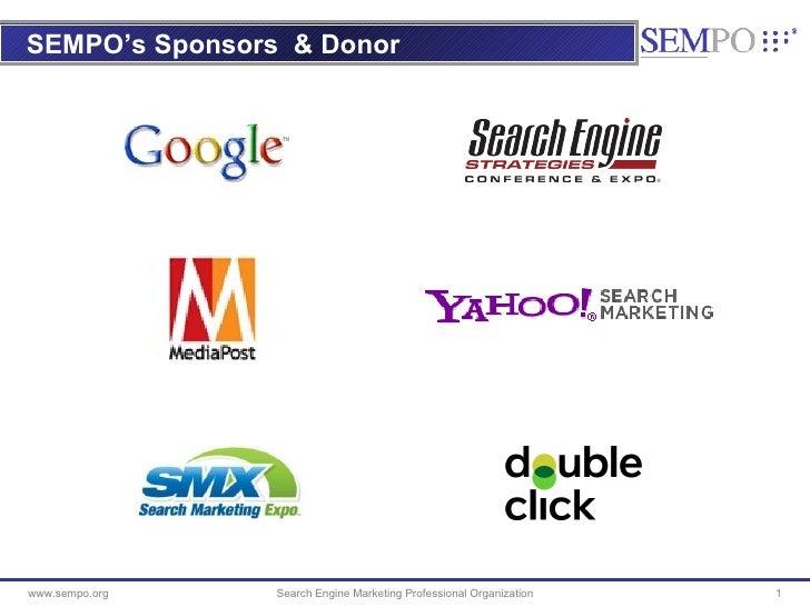 SEMPO's Sponsors   & Donor Search Engine Marketing Professional Organization