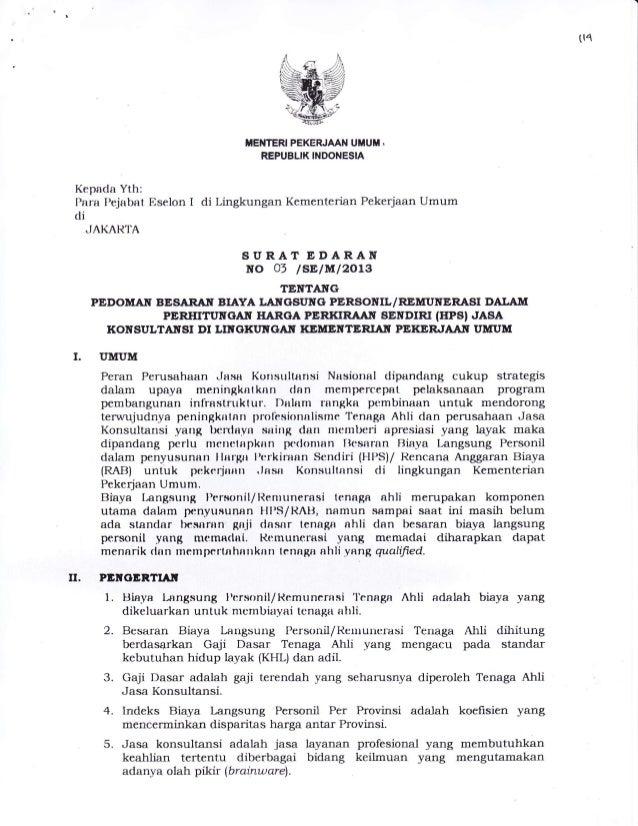 (t4 I. TIEI{TERI PEKERJAAN UMUM . REPUBLIK INDONESIA Kepacla Yth: Para I'ejabat Eselon I di Lingkungan Kementerian Pekedaa...