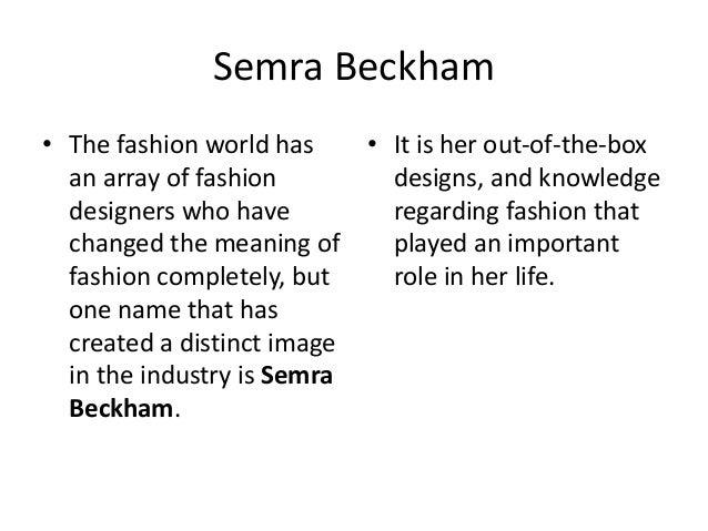 Semra Beckham Article