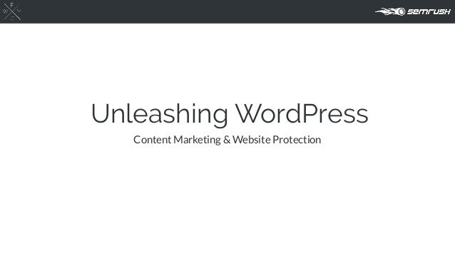 Unleashing WordPress Content Marketing & Website Protection