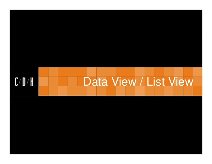Data View / List View