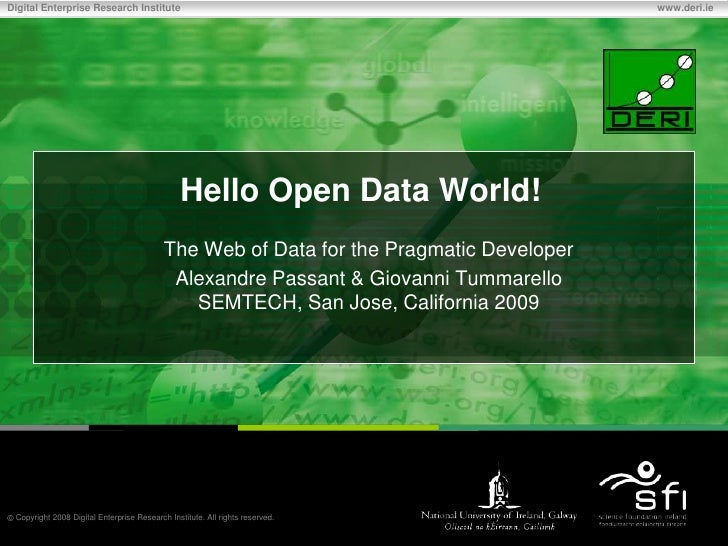 Hello Open World - Semtech 2009