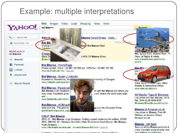 Example: multiple interpretations