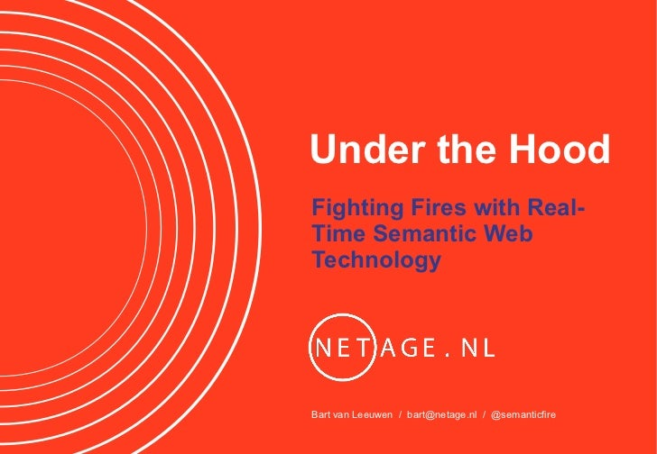 Under the HoodFighting Fires with Real-Time Semantic WebTechnologyBart van Leeuwen / bart@netage.nl / @semanticfire