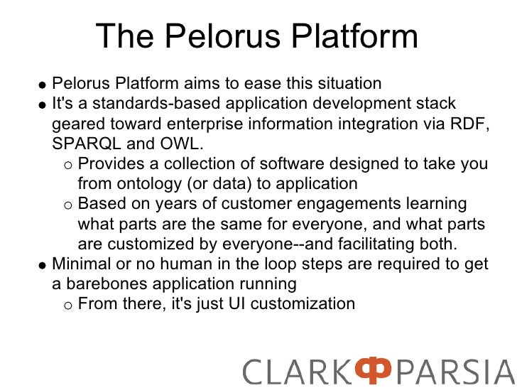 The Pelorus Platform Pelorus Platform aims to ease this situation It's a standards-based application development stack gea...