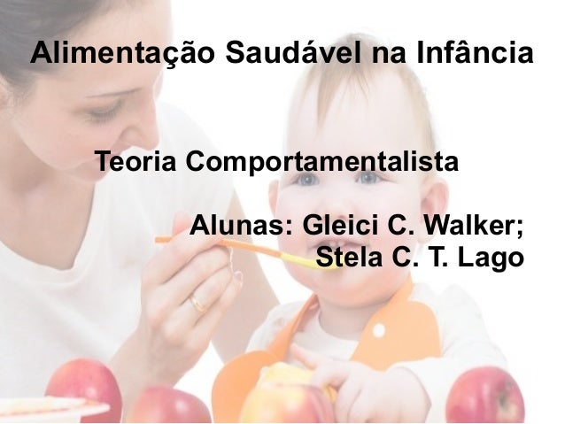 Alimentação Saudável na Infância Teoria Comportamentalista Alunas: Gleici C. Walker; Stela C. T. Lago