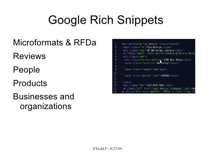 quick introduction to the semantic web  rdfa  u0026 microformats