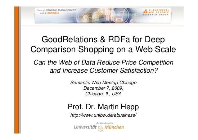 GoodRelations & RDFa for Deep Comparison Shopping on a Web Scale Can the Web of Data Reduce Price Competition and Increase...