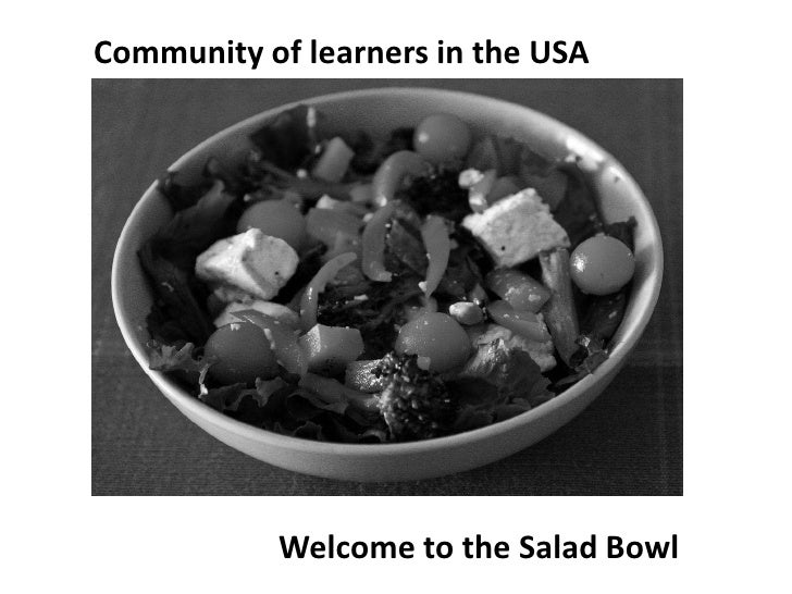Community of learners in the USA<br />Welcome to the Salad Bowl<br />