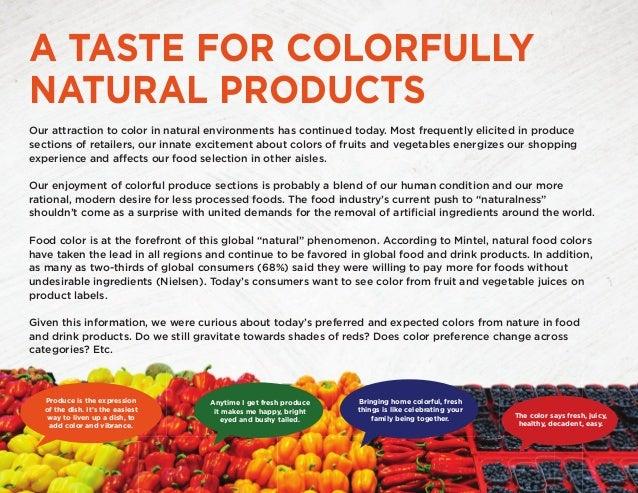 Food Color Case Study