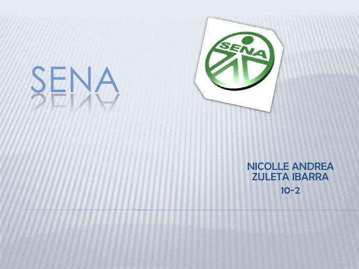 SENA       NICOLLE ANDREA        ZULETA IBARRA             10-2