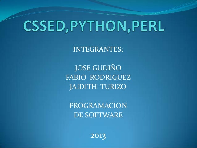 INTEGRANTES: JOSE GUDIÑO FABIO RODRIGUEZ JAIDITH TURIZO PROGRAMACION DE SOFTWARE 2013