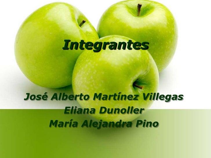 Integrantes<br />José Alberto Martínez Villegas<br />Eliana Dunoller<br />María Alejandra Pino<br />