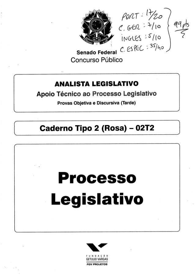 Senado   prova analista pl