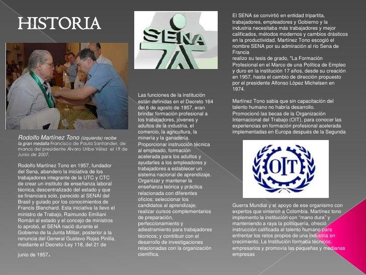El SENA se convirtió en entidad tripartita, trabajadores, empleadores y Gobierno y la industria necesitaba más trabajadore...