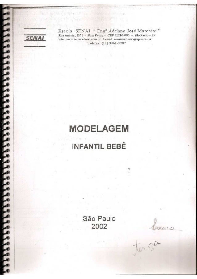 "Escola SENAI  Eng° Adriano José Marchini ""  Rua Anhaia,  1321 -— Bom Retìro — ('EP 01130-000 — S50 Paulo — SP Site:  wwuzs..."