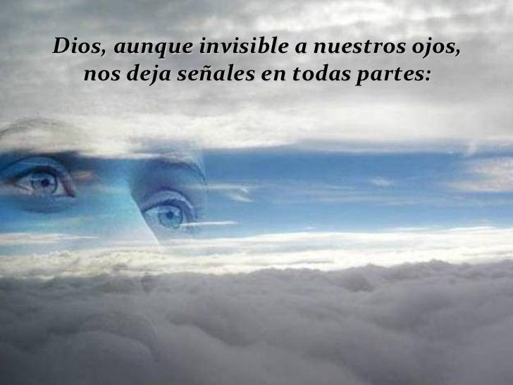 Dios, aunque invisible a nuestros ojos, nos deja señales en todas partes: