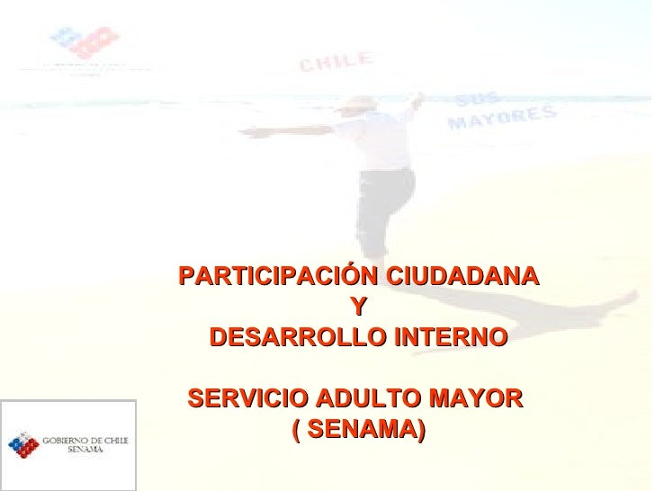 PARTICIPACIÓN CIUDADANA Y DESARROLLO INTERNO SERVICIO ADULTO MAYOR  ( SENAMA)